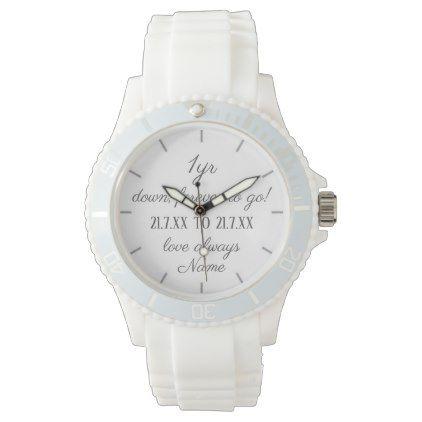 1st Wedding Anniversary Gift Husband Wife Him Her Wristwatch