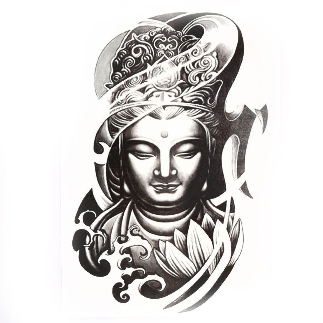 Da da danielle colby cushman tattoos - Body Art Buddha Pattern Removable Decor Paper Sticker Decal Temporary Tattoo