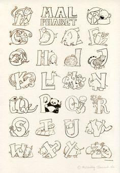 """""""das malphabet"""" - alphabet mit tieren #ausmalbild #"""