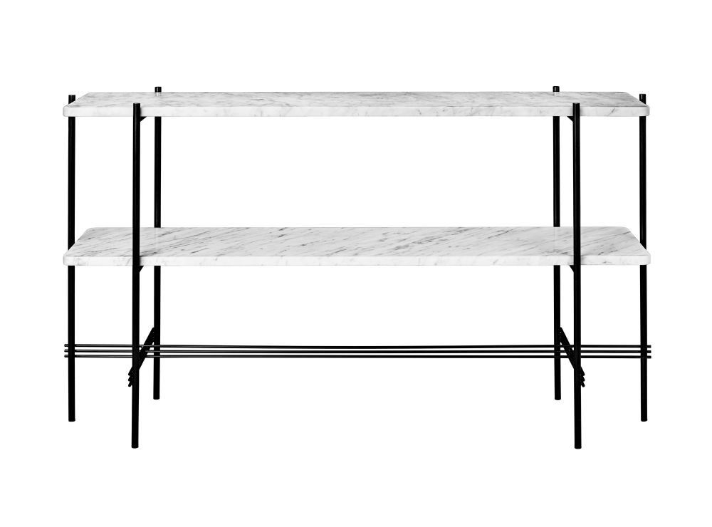 Gubi TS Console 2 Marble Tops White