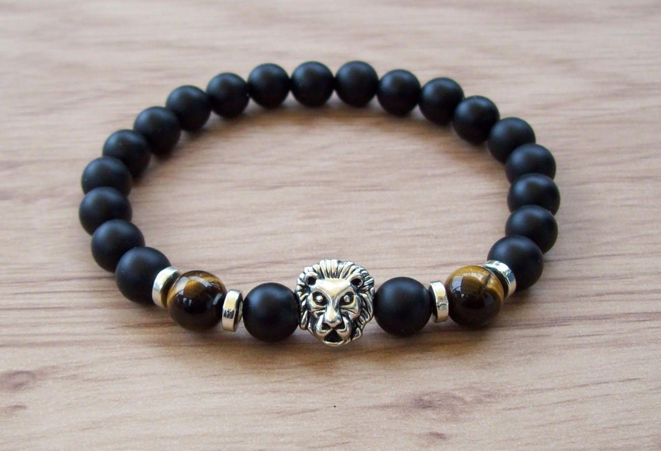 New Bracelet pour homme yx Œil de tigre Cadeau pour lui