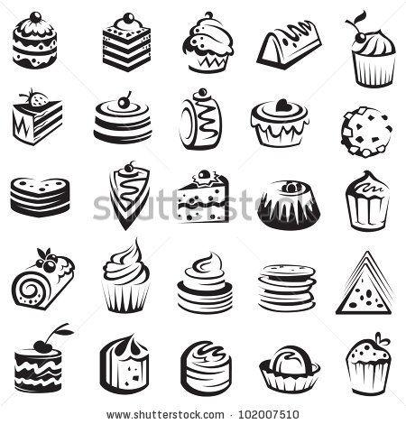 set of cakes by Alexkava, via ShutterStock