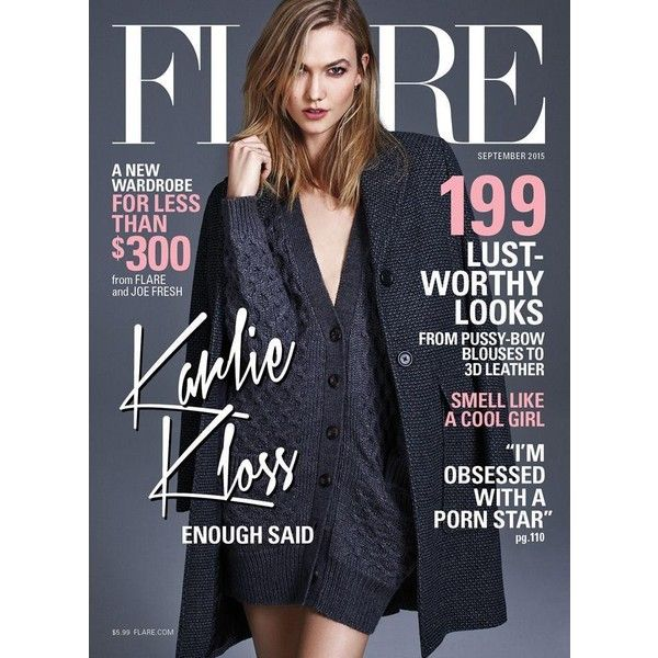 Flare Magazine September 2015 Covers ❤ liked on Polyvore featuring magazine cover and magazine