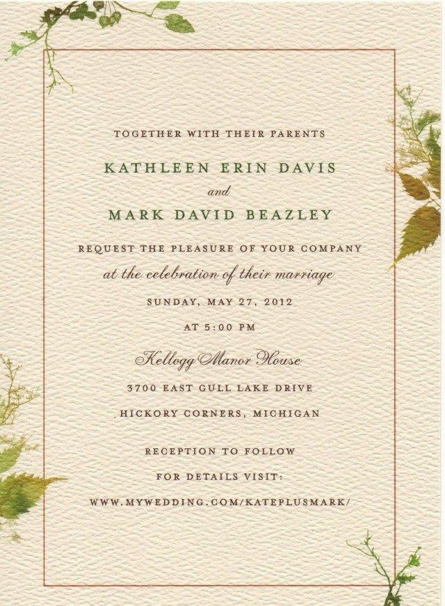 Pin on Sample Wedding Invitation