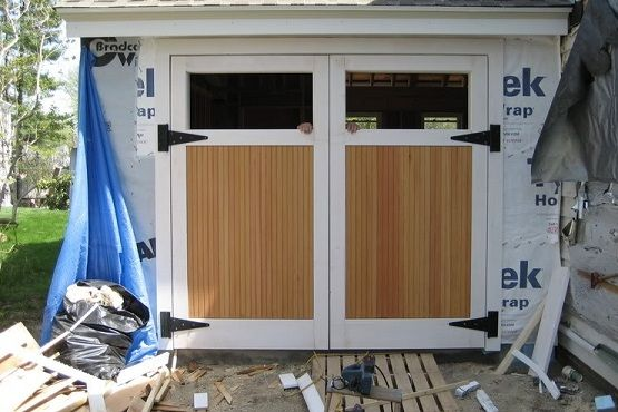 Swing Out Garage Doors How To Build In Three Steps Home Interiors Carriage Style Garage Doors Wooden Garage Doors Garage Doors