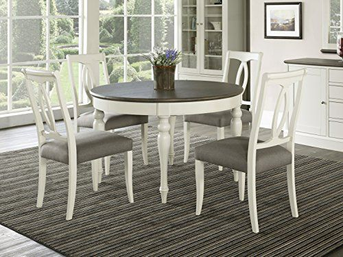Coastlink Vegas 5 Piece Round to Oval Extension Dining Table Set