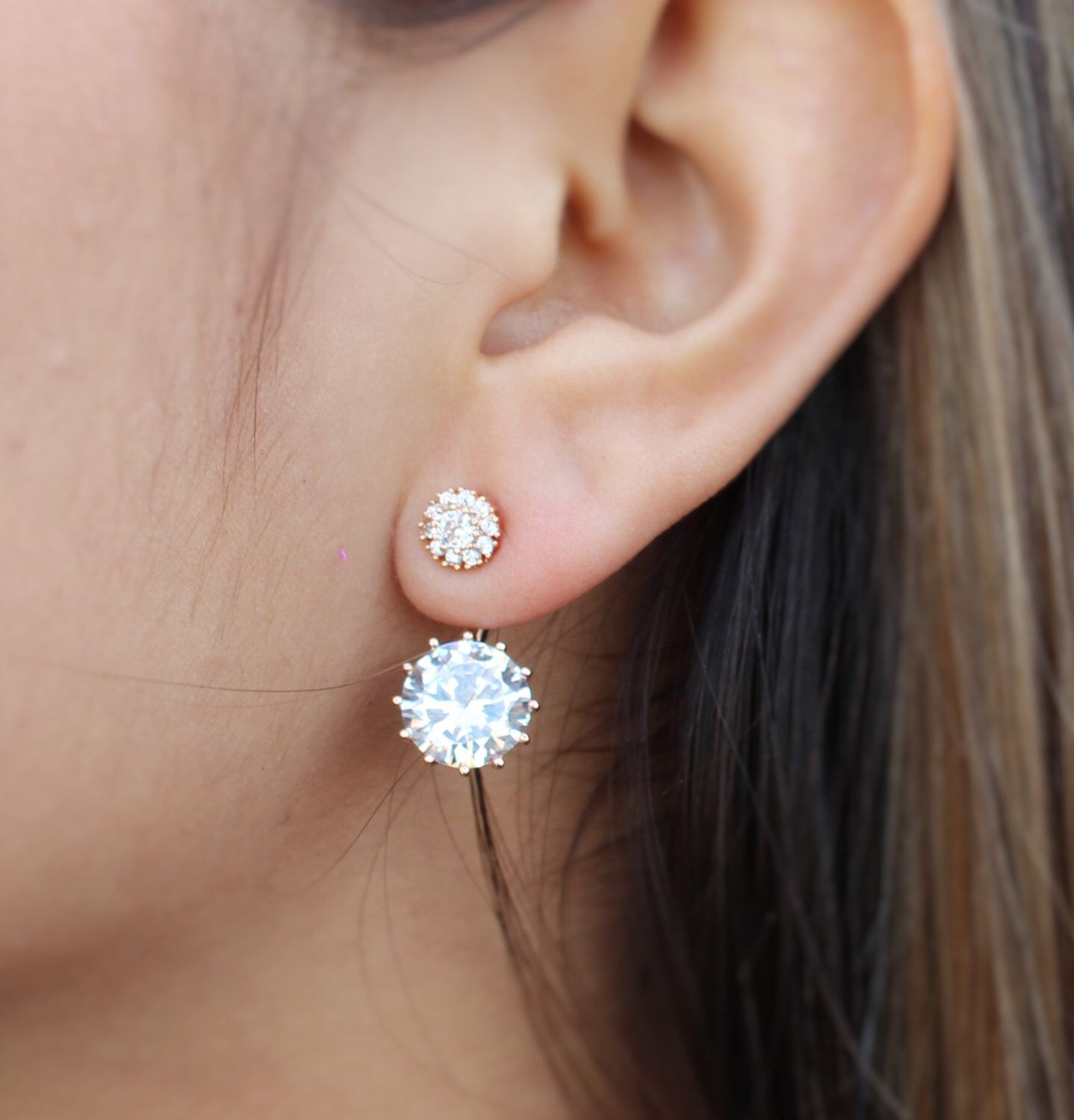 Elegance Ear Jacket Stud Earrings Pinterest