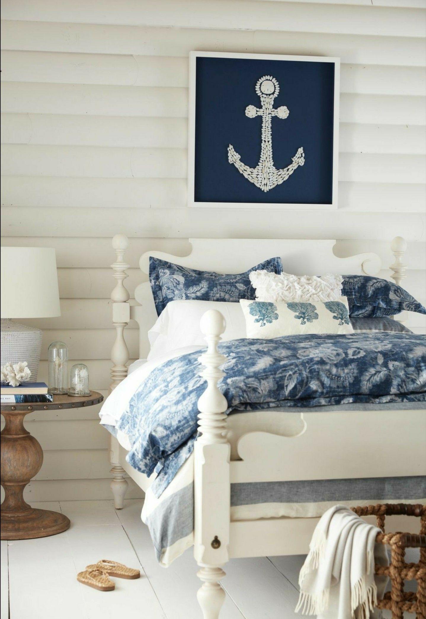 Coastal Style Bedroom Beach House Decor Pinterest