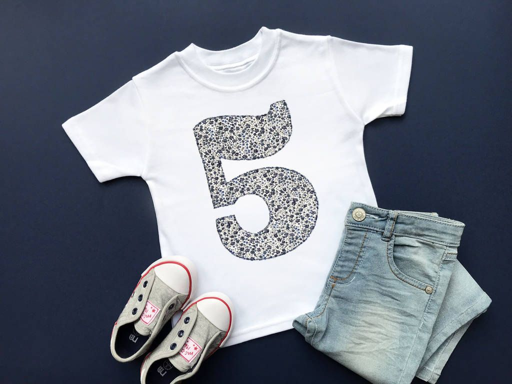 Photo of 5th Birthday Appliqué Top With Liberty Of London Fabric