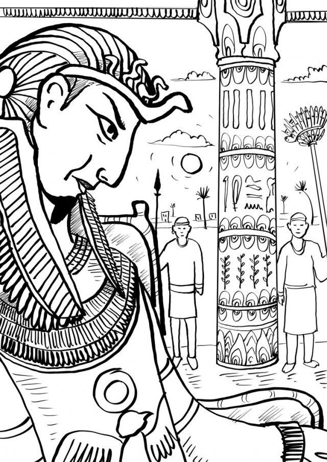 Pharaoh Coloring Pages Pharaoh Coloring Pages Pharaoh And The | diy ...