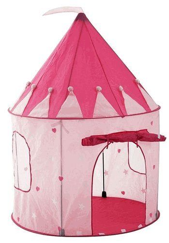 Girlu0027s Playhouse Pink Princess Castle Play Tent for Kids - Indoor / Outdoor - Pockos on  sc 1 st  Pinterest & Girlu0027s Playhouse Pink Princess Castle Play Tent for Kids - Indoor ...