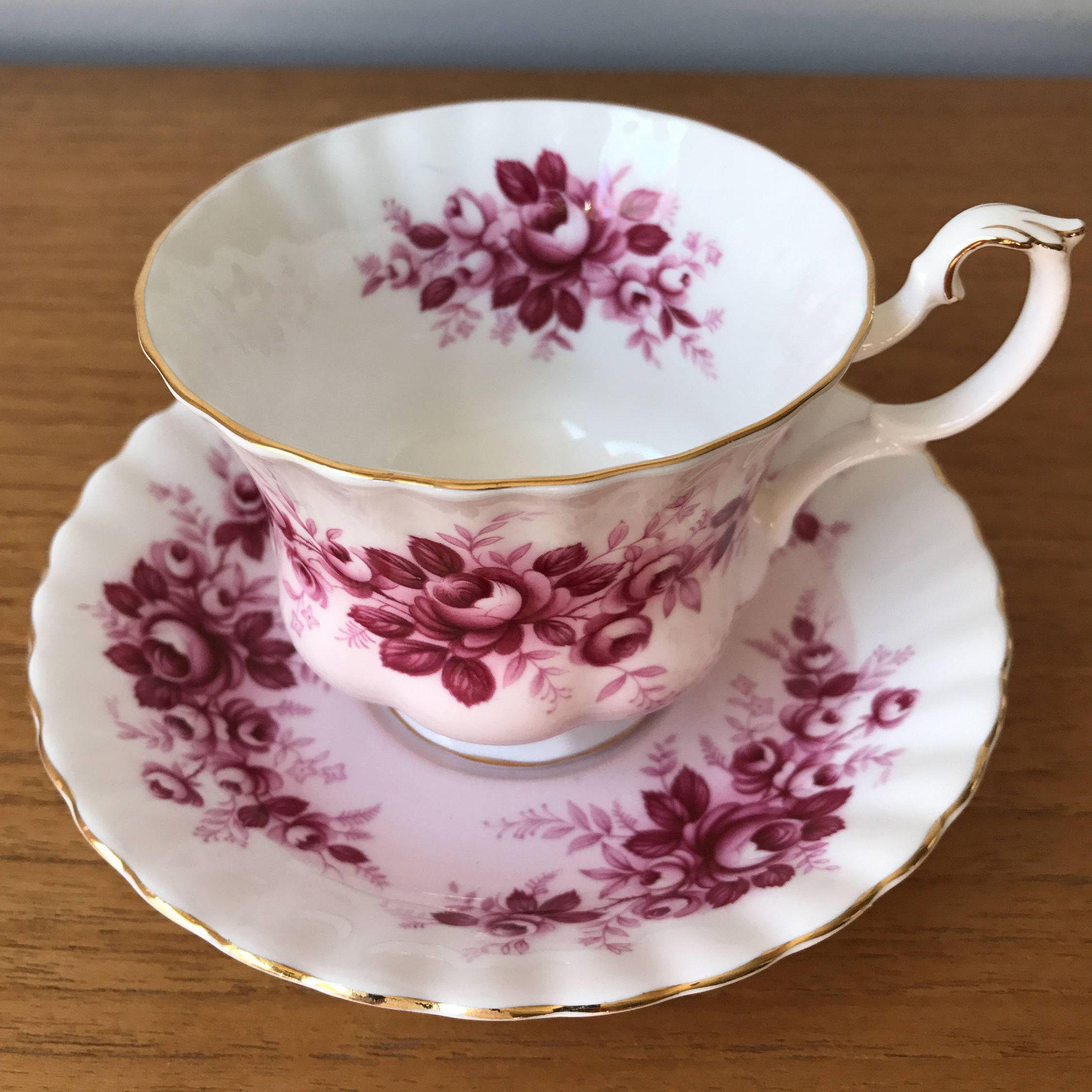 """Royal Albert """"Serenade"""" Melody Series Vintage Pink Tea Cup and"""