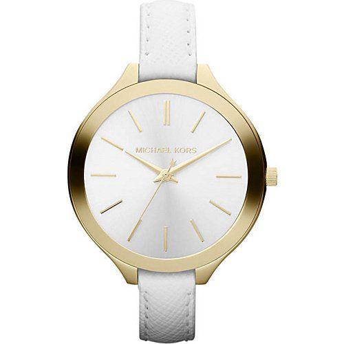 Michael Kors Watches Slim Leather Runway Watch     #Kors, #Leather, #Michael, #Runway, #Slim, #Watch, #Watches