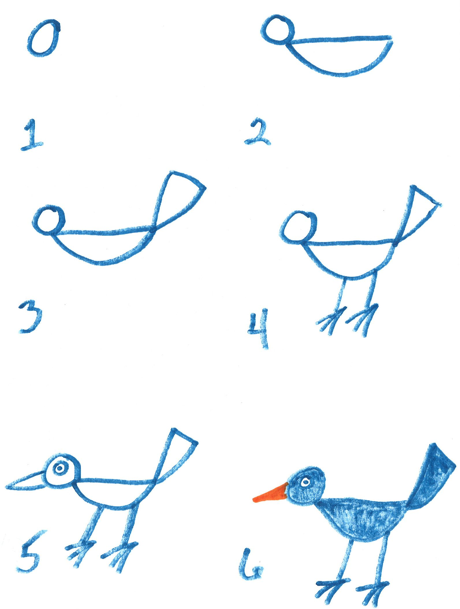 How To Draw A Bird Step By Step Easy With Pictures With