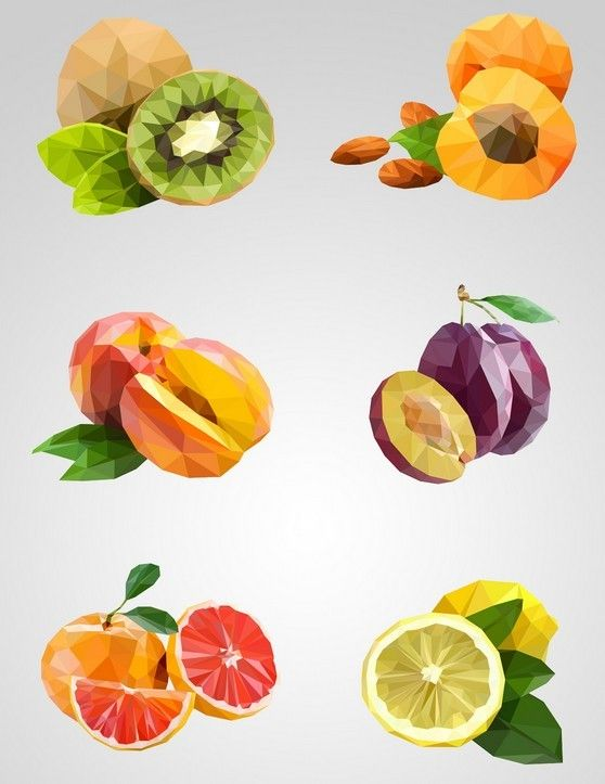 download free low poly vector fruits under the free vector food drink category ies