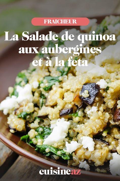 Salade de quinoa aux aubergines et à la feta -