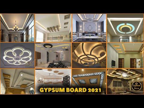 أحدث اشكال اسقف جبس بورد للصالات مودرن2021 Gypsum Board Youtube Modern Decor Gypsum Board Modern House