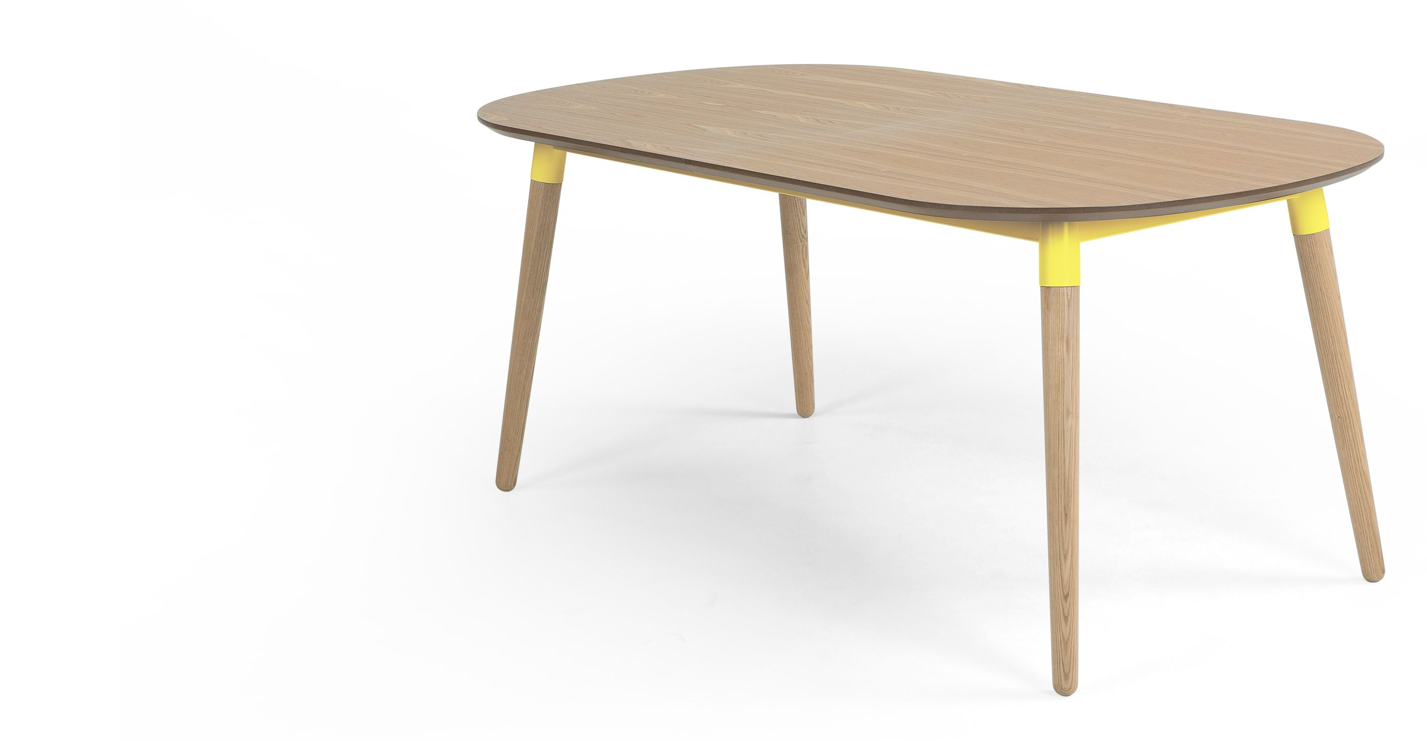Edelweiss Extending Dining Table, Ash and Yellow   made.com   Home ...