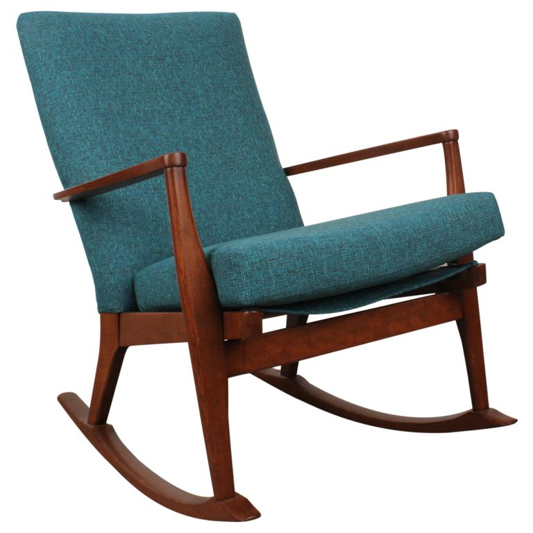 Awesome Solid Wood Mid Century Rocker Top Design - Inspirational modern rocking chair Picture