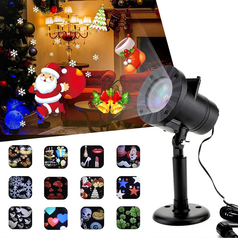 Christmas Halloween Home Decoration Projector Lights 12