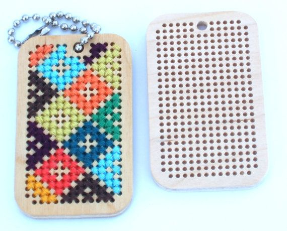 Wooden cross stitch embroidery blanks for