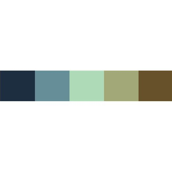 Blue Green Brown Color Palette Add Red Or Brick No Teal For Asher S Room