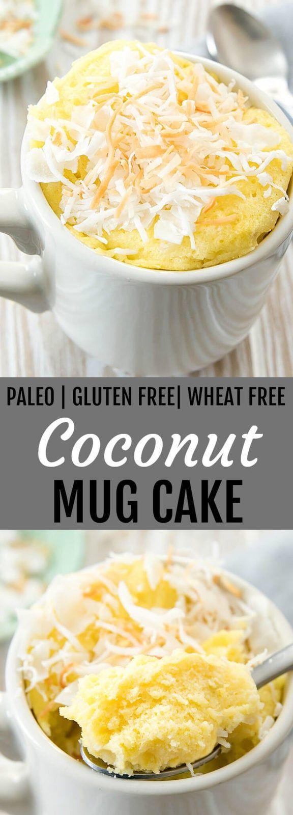 Coconut Mug Cake (Paleo, Gluten Free) #mugcake