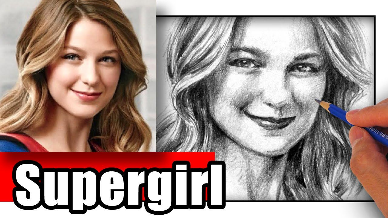 How To Draw Supergirl Melissa Benoist Supergirl Drawing Supergirl Drawings