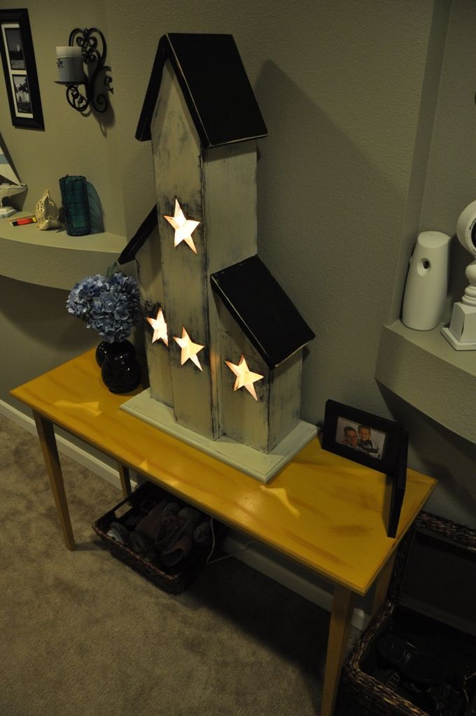 Lighted Saltbox House Do It Yourself Home Projects From Ana
