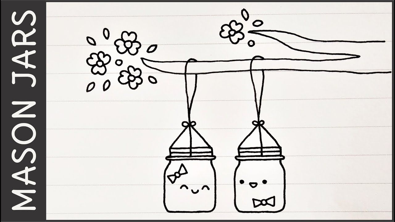 Mason Jars Simple Cute Doodle Ideas And Puns Appy Doodles
