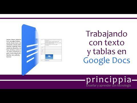 Convertir texto en tabla en Google Docs