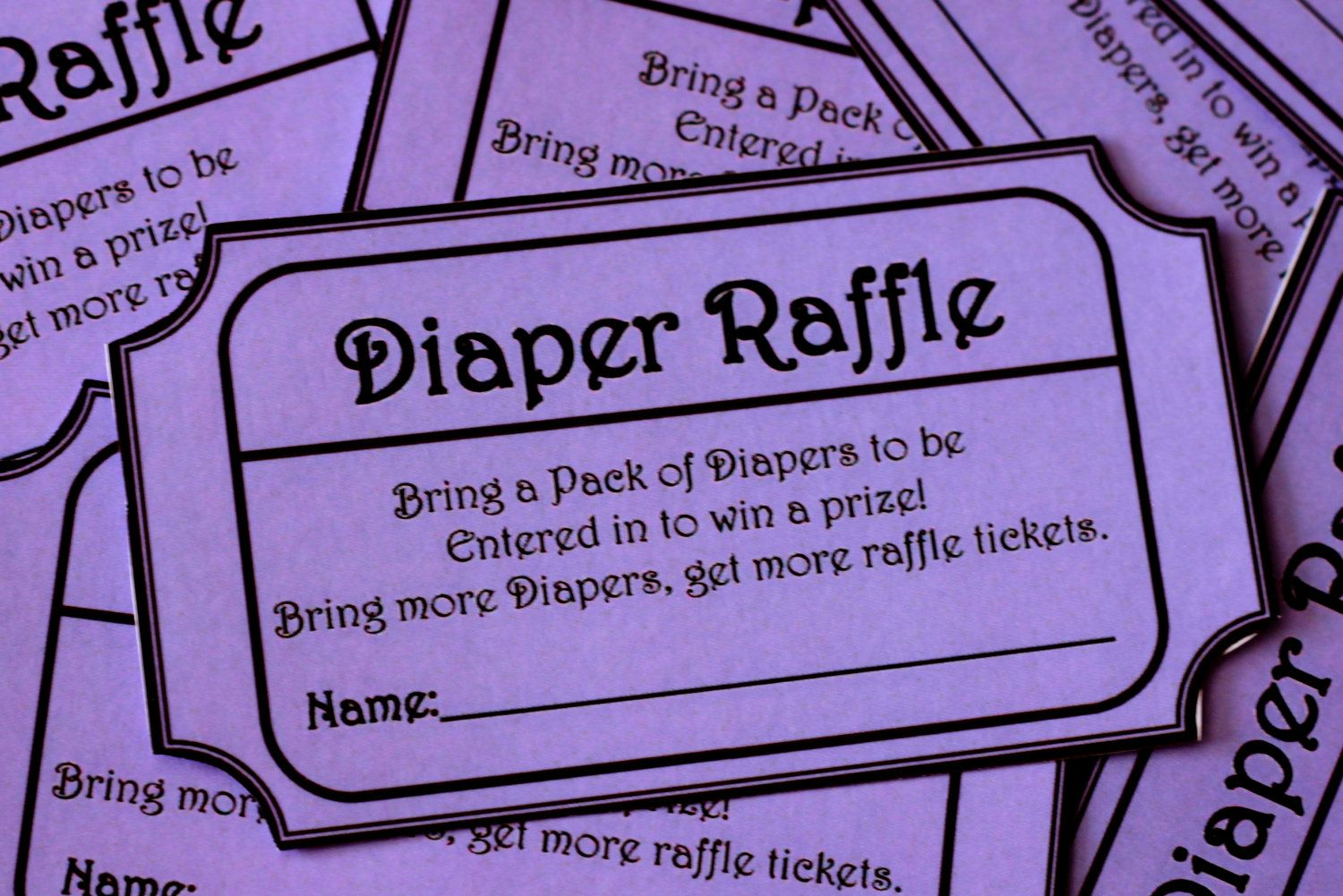 purple printable baby shower raffle ticket party ideas baby