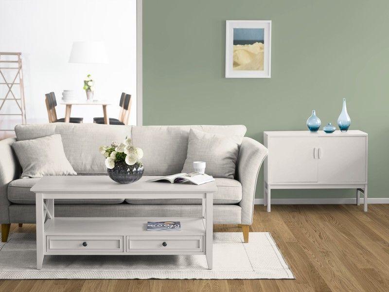 Ein Wohnzimmer Mit Der Wandfarbe Salbei. | Up | Pinterest | Living
