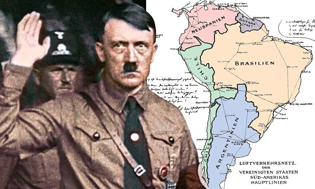 Hitlers Amazing Map That Turned America Against The Nazis A - Misiones argentina nazi map