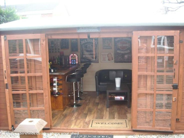 The Shed Man Cave : Bar man cave in backyard custom home pinterest men