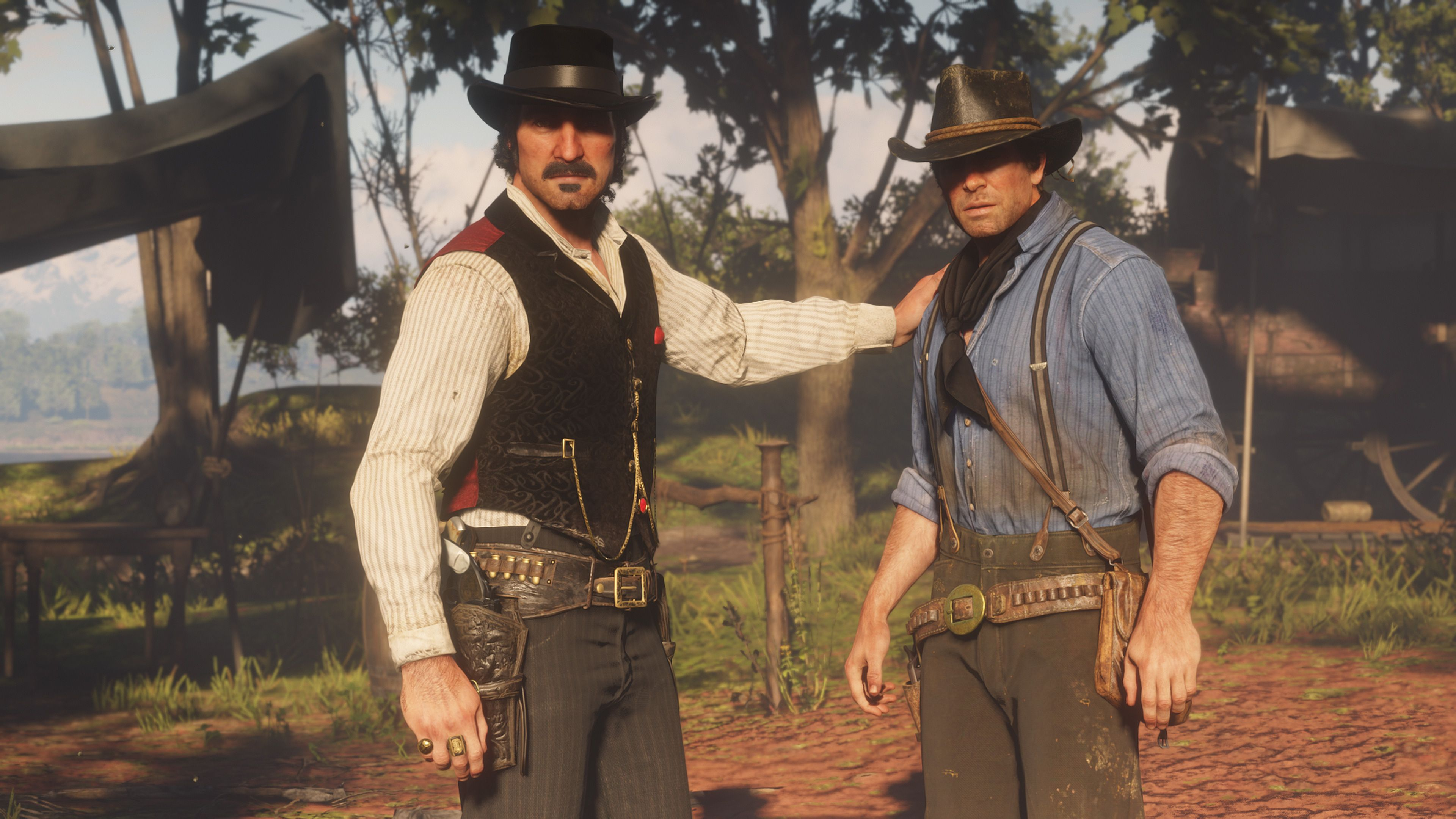 Image result for Dutch and Arthur morgan
