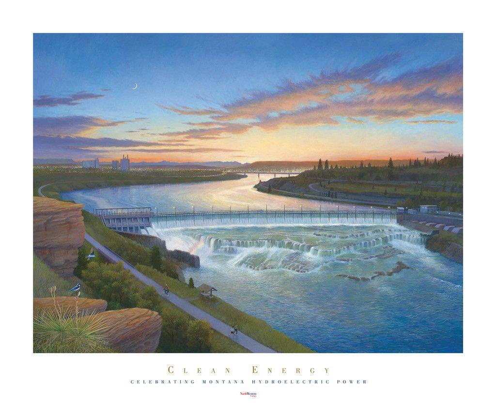 River's Light by Monte Dolack
