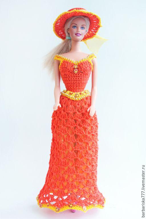 Купить Барышня - голубой, одежда для куклы, платье для ...