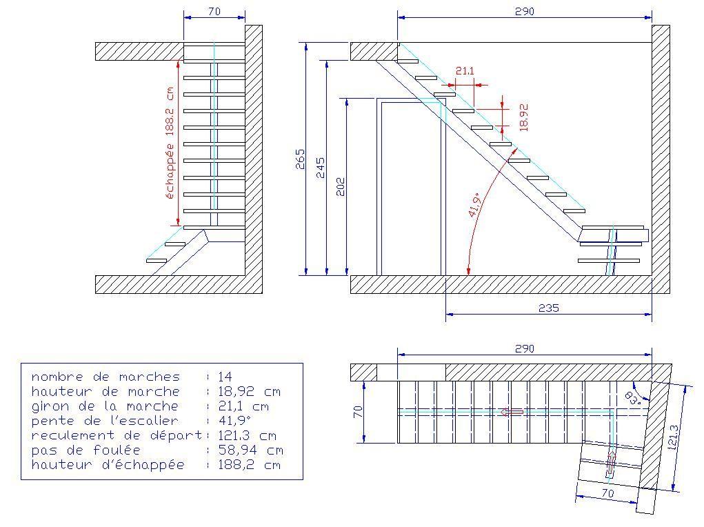 Escalier Limon Central Sans Angle Droit Avec Images Calcul