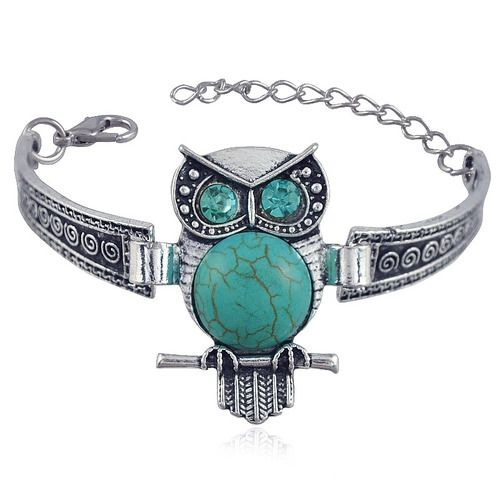Bohemian Fashion Owl Turquoise Bracelet for Women Jewelry. Starting at $1