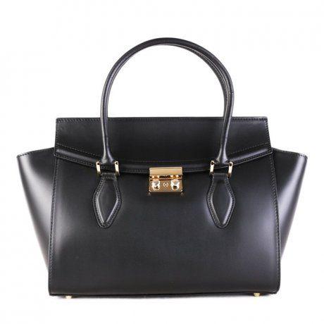 6a3845f74b Kožené kabelky do ruky Talianske čierne Catrina