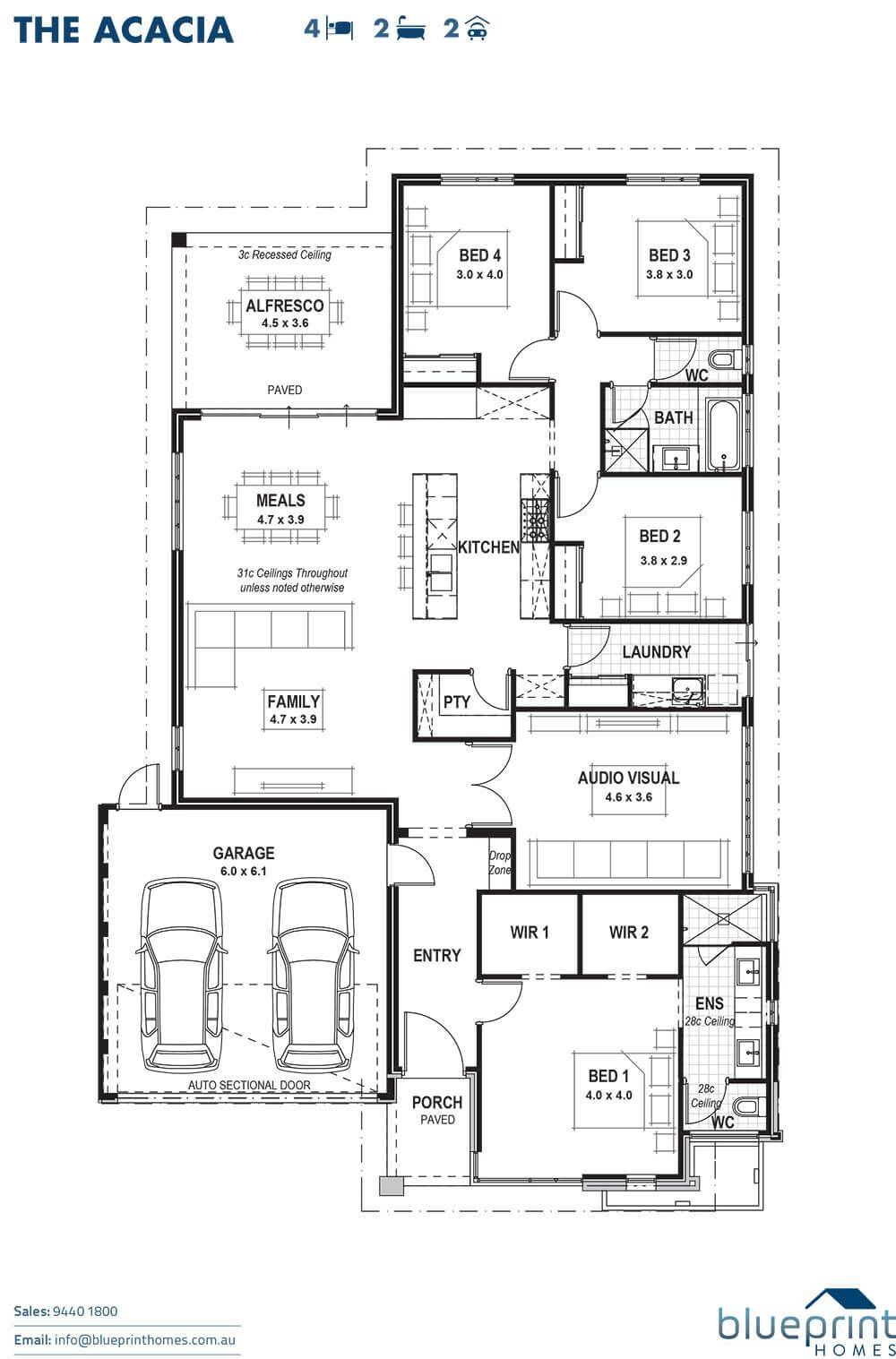 The Acacia Perth Home Design Blueprint Homes House Plans Australia House Blueprints Open House Plans