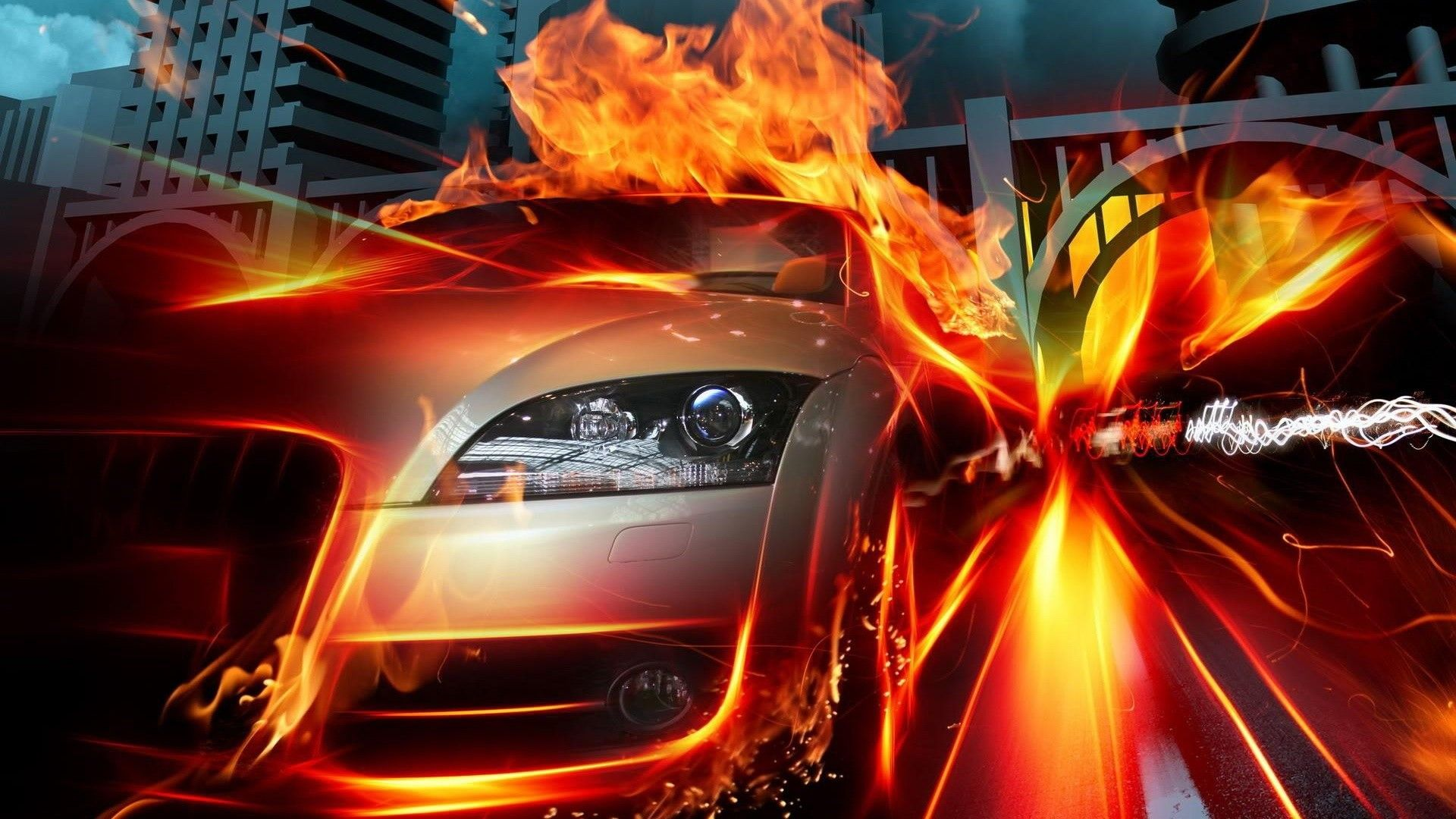Car On Fire HD Cool Wallpapers HD Wallpaper Fuego - Cool cars on fire