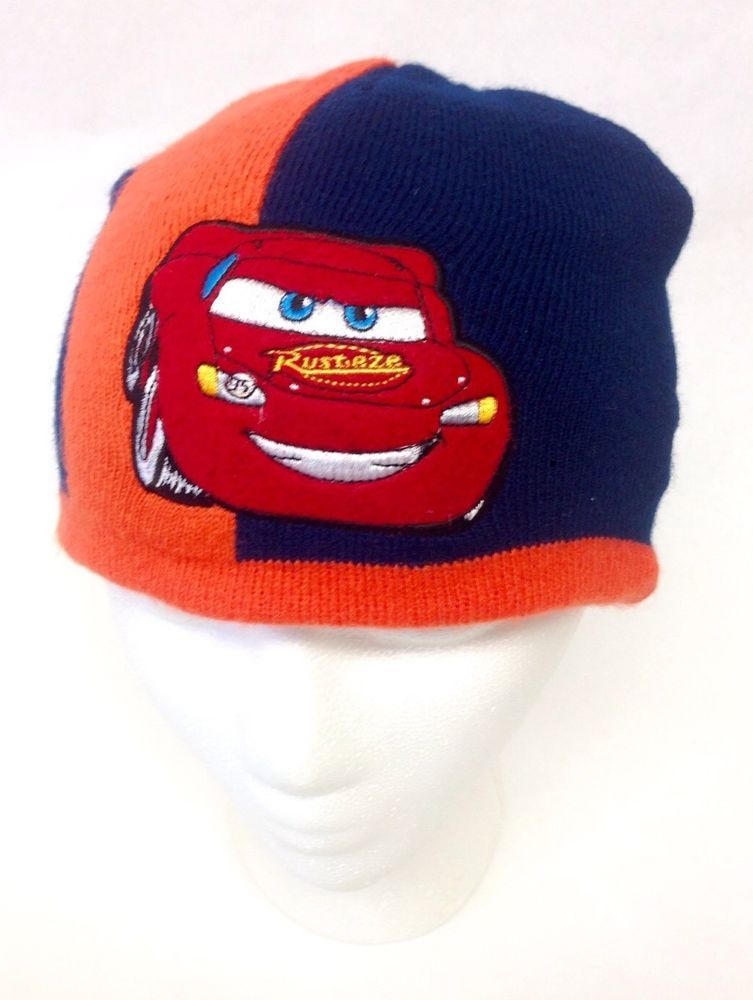 824292c0078 Disney Pixar CARS Lightning McQueen Kids Youth Beanie Knit Hat Cap Skullcap   Disney  Beanie