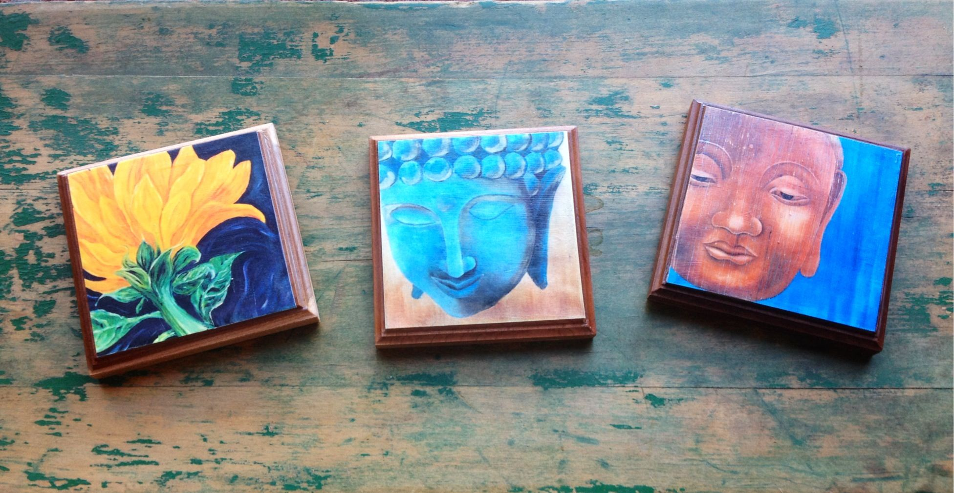 Art Prints from Original Paintings on Cherry Blocks - $20