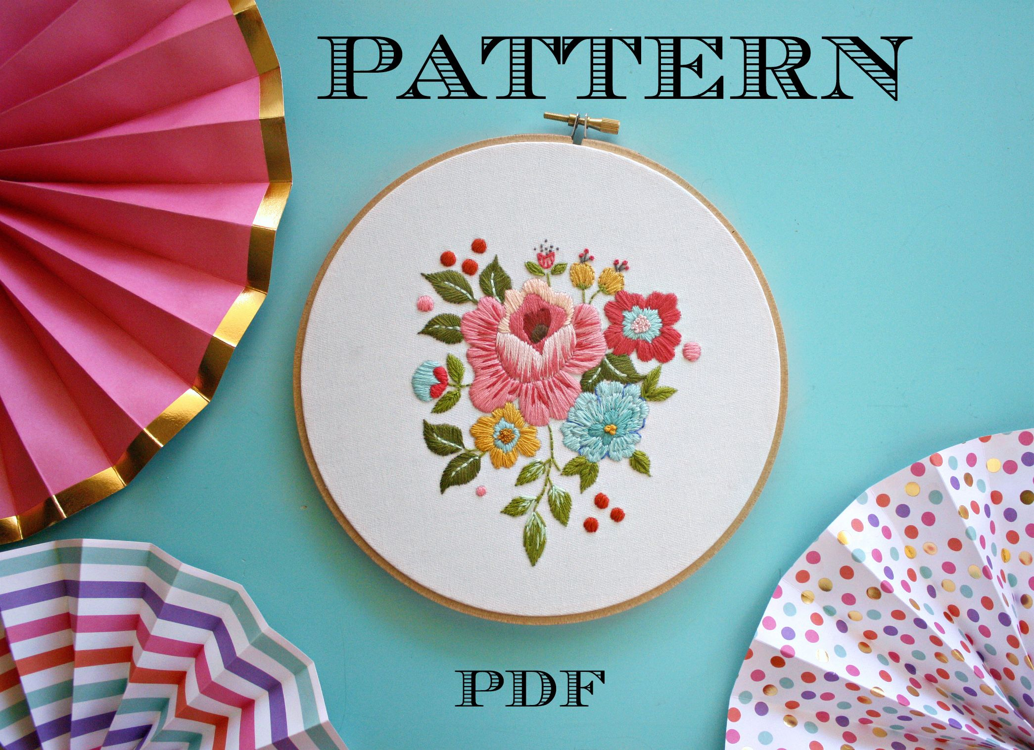 Floral embroidery pattern vintage inspired embroidery kitinstant floral embroidery pattern vintage inspired embroidery kitinstant download pdfhand embroidery patternprintable stitching pattern solutioingenieria Images