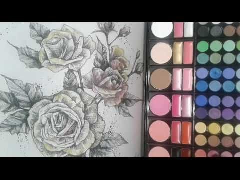 Coloring Book Tips Tricks Super EASY How To Color Using Eyeshadow On