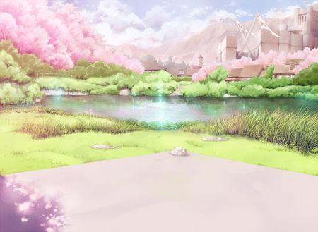 Lake Sakura Desktop Nexus Wallpapers Anime Scenery Anime Backgrounds Wallpapers Anime Scenery Wallpaper