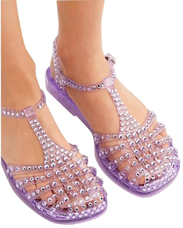 Jelly sandals, Embellished sandals
