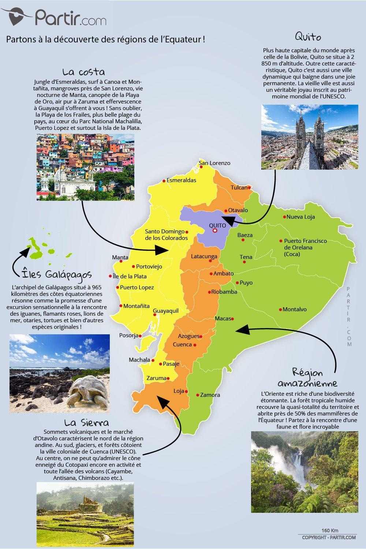 Carte Equateur Region 1000 Jpg 1 000 1 501 Pixels Equateur Voyage Carte Touristique Equateur